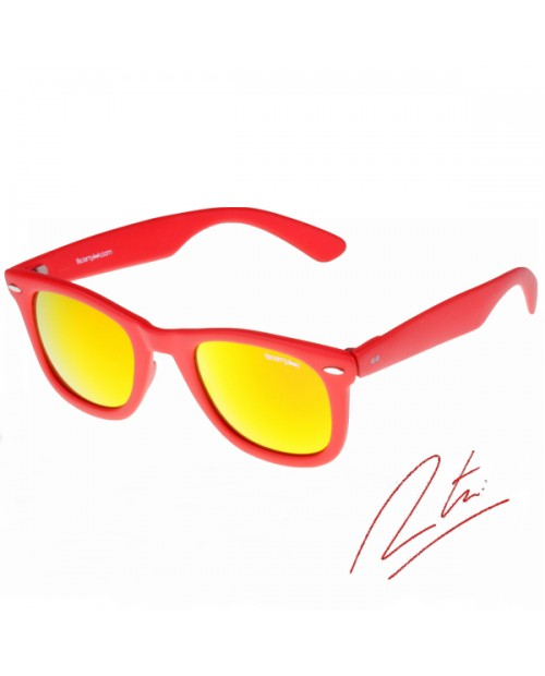 Lunettes solaires Tomaso-red mirror yellow - Gamme Tomaso